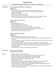 resume for front desk front desk receptionist resume samples velvet jobs