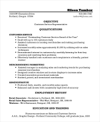Excellent Ideas Customer Service Representative Resume Examples