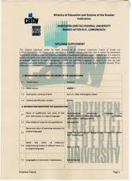 САФУ Европейское приложение к диплому Общеевропейское приложение к диплому diploma supplement