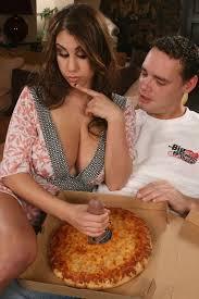 Big boob pizza sausage