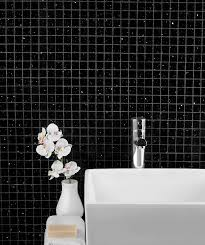 starluxe black square mosaic tile