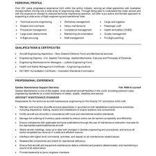 Engineer Resume regarding Non Technical Resume Format