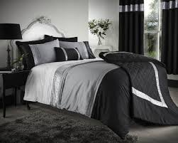 contemporary french bedroom design with zumba king size duvet covers and black grey silver bedding set