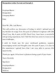 Format Letter Of Resignation Format Of Resignation Under Fontanacountryinn Com