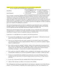 Faculty Promotion Letter Of Recommendation Sample Sample Letter For External Recommendations For Non