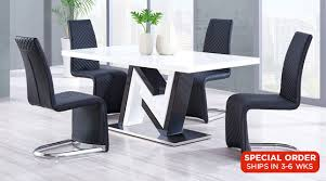 constructed of oak wood veneers this dining table makes a bold statement finished in wenge with a frosted center glass rectangle shape and pedestal base