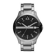 armani exchange watches uk men s ladies h samuel armani exchange men s dark grey stainless steel watch product number 9749128