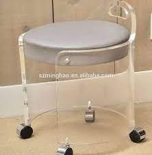 Acrylic Bathroom Vanity Stool With Wheels Buy Acrylic Bathroom Vanity Stool Acrylic Stools With Wheels Acrylic Vanity Stool Product On Alibaba Com