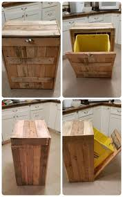 ... Hide Kitchen Trash Can Cool Trash Can Designs Diy Pallets Trash Bin For  Kitchen ...