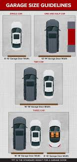 garage door size guidelines single 1 5 two car and three car garages