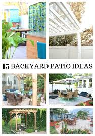 15 amazing diy backyard patio ideas on