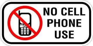 No Cell Phone Use 12 X 6 Safety Security Sign 3m