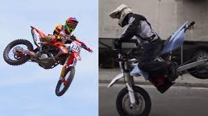 supermoto vs dirt bike warp 9 racing youtube