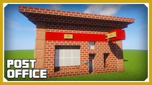 how to build a office. Minecraft: How To Build A Post Office Tutorial (Easy Survival Minecraft Design) O