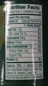 the calorie count is not correct the cobner is lowfat 90 calories 4 0 oz 113g accuracy is important can this be changed