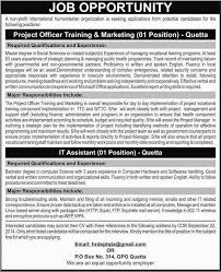 Project Officer Cv Project Officer Training Marketing And It Assistant Job In