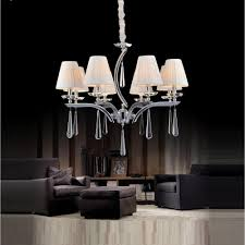 cwi lighting alice 8 light chrome chandelier with white shade