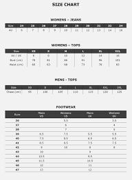 Calvin Klein Clothing Size Chart