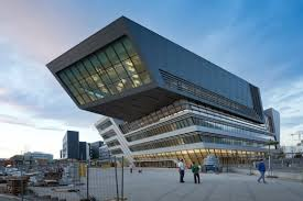 Library of the Vienna University of Economics was designed by Zaha Hadid  Architects