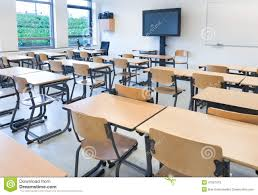 school rectangle table. Empty Classroom With Tables School Rectangle Table R