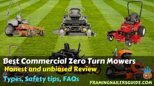 Zero Turn Mower Comparison Chart 5 Best Commercial Zero Turn Mowers For The Money Reviews 2020