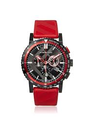 17 best ideas about burberry mens watches men s burberry men s bu9805 the new city red black check ion plated steel watch at