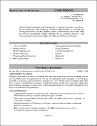 Sample Resume Admin Sample Resume For Executive Administrative Assistant