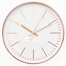 modern wall clock rose gold classic 12