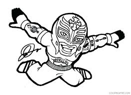 Coloring Pages Wwe Cozy For Kids Sin Cara And Rey Mysterio