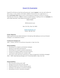 Resume Examples For Jobs Good Sample Resume Free Resumes Templates Examples Pics Resume 68