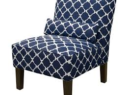 blue and white chair. Chic Navy Accent Chair Blue Home Design Ideas And White U