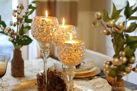 Glittering Wine Goblets Candle Display