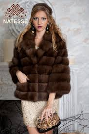 designer dark marten fur coat 1654
