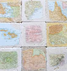 anniversary gifts for men aunt jewelry brother gift personalized natural stone vine map coasters you select four locations