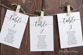 Calligraphy Wedding Seating Chart Seating Charts Plans Paper Passion Designs