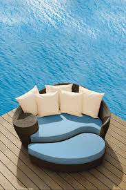 dune outdoor furniture. Barlow Tyrie Dune Daybed In Java With Sky Blue Cushions Outdoor Furniture