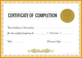 Certificate Of Training Completion Template Free Training Completion Certificate Templates Of Template