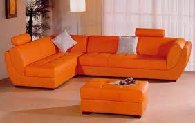 orange leather sofa mk amazing orange sectional sofa55