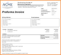 Proforma Invoice Letter Sample Proforma Invoice Sample Form Sample ...