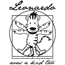 Adesivo Murale Bambini Tigre Vitruviano Leonardo Da Vinci