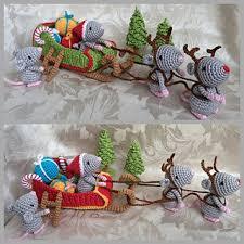 Ravelry: Christmas Mice. Santa's Sleigh pattern by Uljana Semikrasa