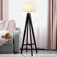 Textiel Staande Lamp Maura Met Houten Voet