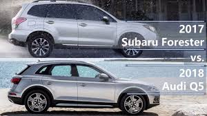 2017 Subaru Forester vs 2018 Audi Q5 (technical comparison) - YouTube