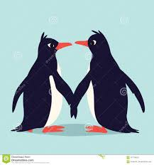 cute penguins in love. Beautiful Love Download Cute Penguins In Love Family Of Birds Holding Their Wings And  Looking At Each Love E