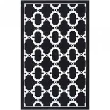 hyperion black white outdoor rug 8x10