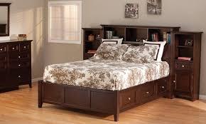 king bed with storage. Fine Storage McKensize Bookcase Storage Bed With King
