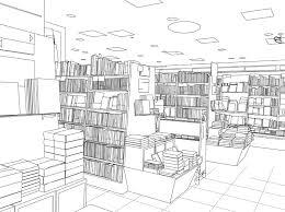 背景素材001本屋書店01フリー版 スタジオ猫遊漫画用背景素材