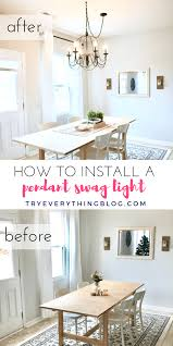 how to install pendant lighting. how to install a pendant light and swag it at tryeverythingblogcom lighting b