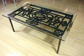 wrought iron side table iron glass coffee table great coffee table wrought iron glass coffee tables