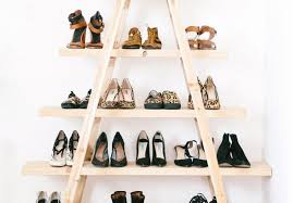 diy update the ladder shoe shelf
